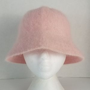 Pastel Pink Rabbit/Wool Blend Cloche Hat Reitmans